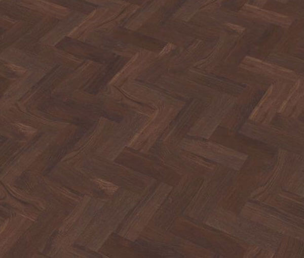 FL Floors Dryback Visgraat PVC dark brown vloer