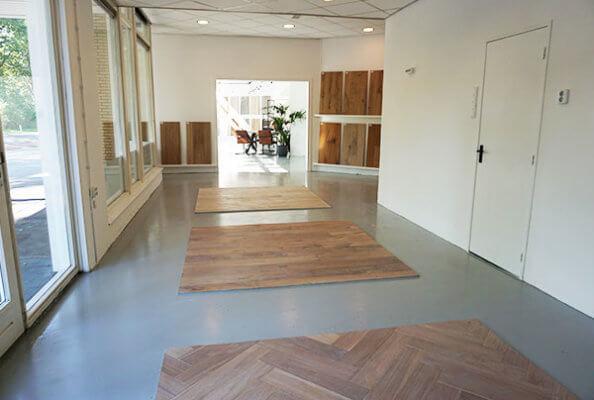 Showroom Floorsite Terschuur Houten Vloeren