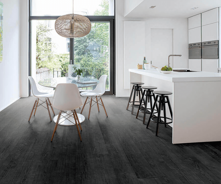 Gebrande Zwarte Planken Houten Laminaat Vloer Nodig Bestel Voordelig Bij Floorsite Nl