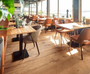 Multiplank houten café vloer 18cm Barnwood Raw Oak Natural schuur vloer