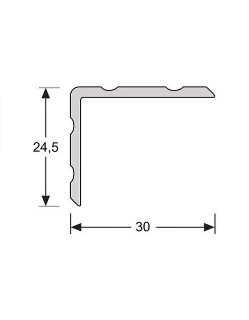 Duo hoeklijn zelfklevend 24,5mm x 30mm 2.4m1