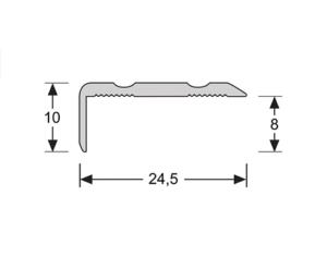 Hoeklijn zelfklevend 10mm 2.4m1