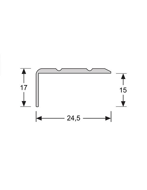 Hoeklijn zelfklevend 17mm 2.4m1