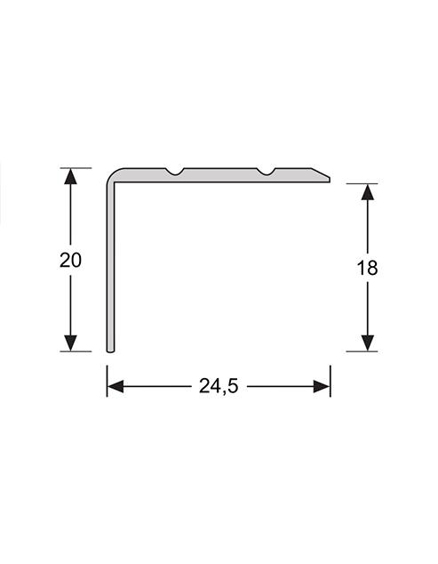 Hoeklijn zelfklevend 20mm 2.4m1