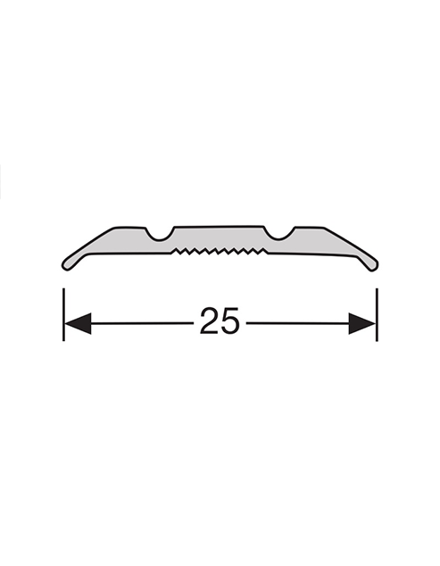 Overgangsprofiel / Dilatatie profiel zelfklevend 25mm 2.4m1
